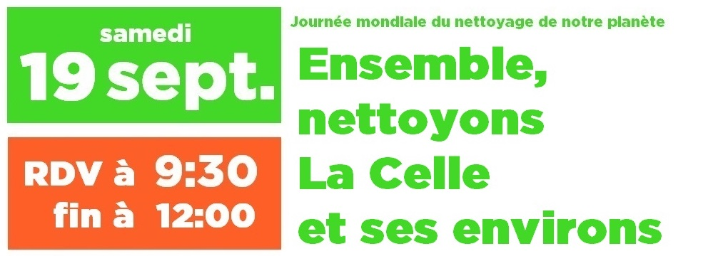 Affiche world clean up day